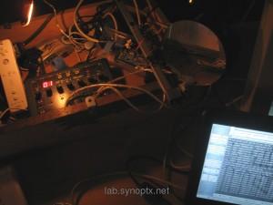 VJ Live Mix Box: Wiimote - VJ mixer - Arduino Servo Control - Mirror (+ eeePC :) ) - Linux Netbook