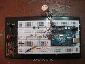 Big breadboard, many sensors + Arduino