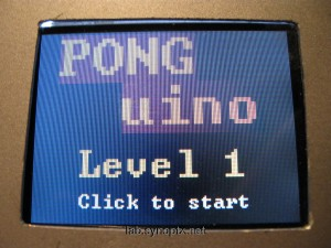 PONGuino mini-game intro screen