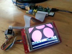 Experimental touchscreen and Raspi setup
